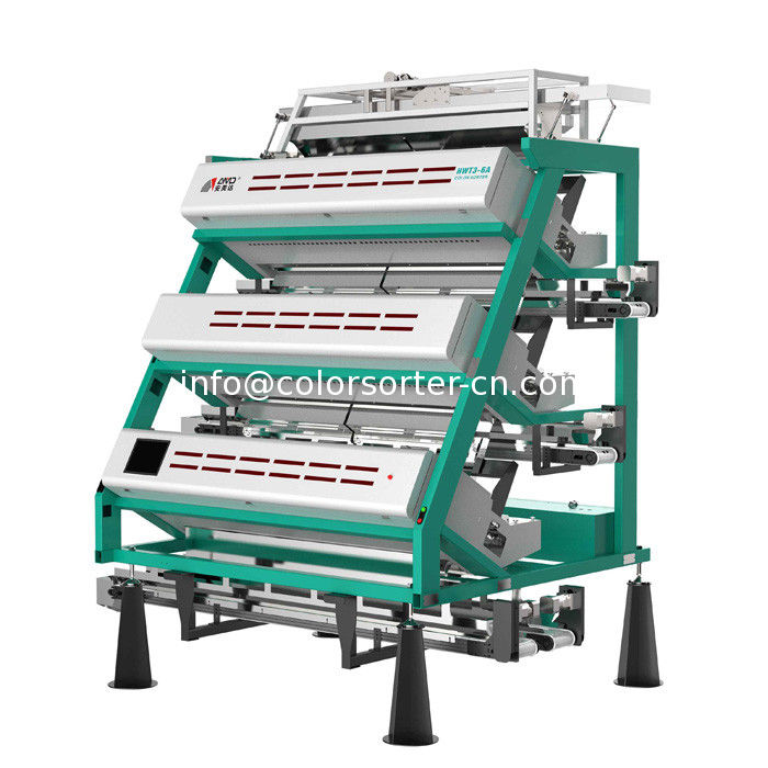 Infrared tea color sorting machine HWT3-6A,RGB and infrared combine
